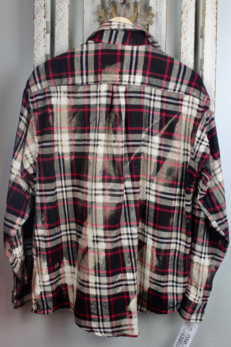 Vintage Black, Red and White Flannel Size Large