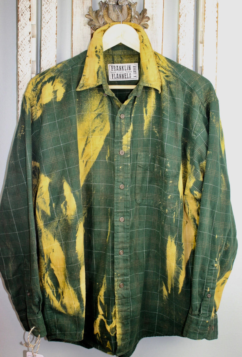 Vintage Green and Gold Flannel Size XL