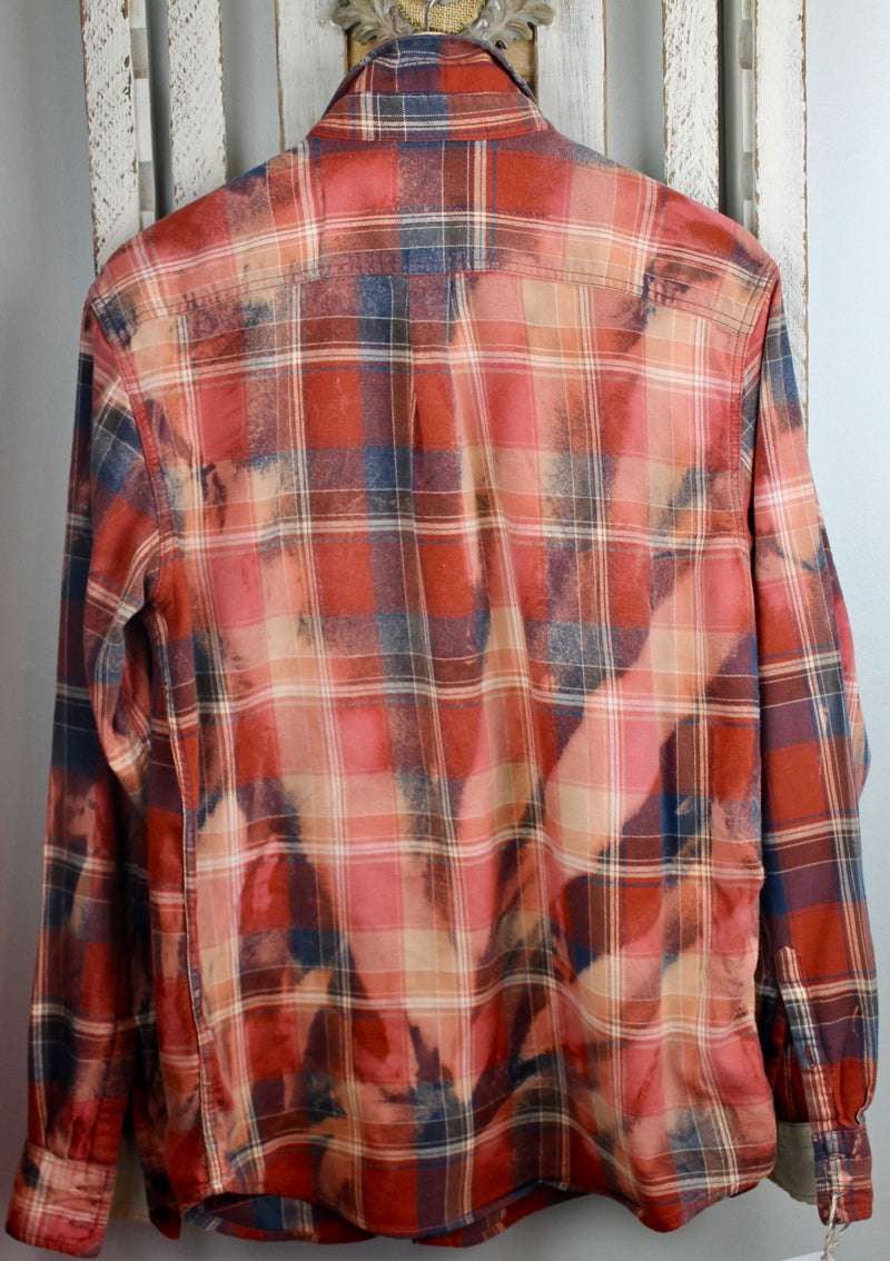 Vintage Red, Denim Blue and White Flannel Size Large