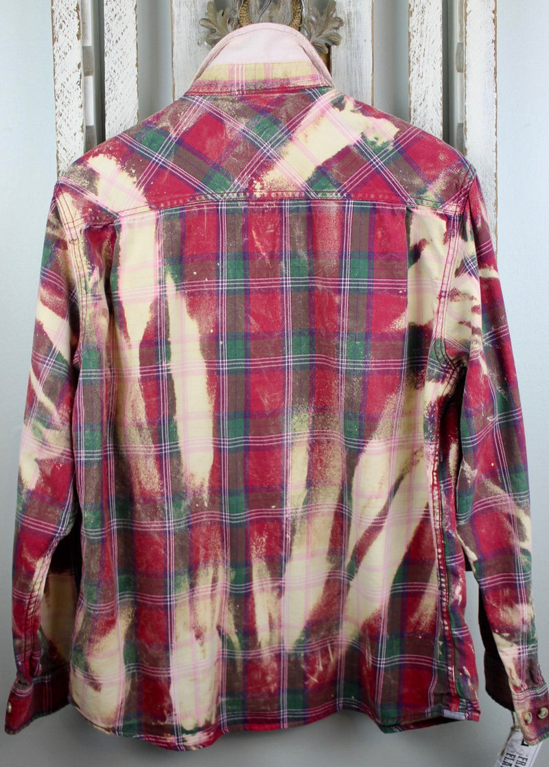 Vintage Red, Green and Cream Flannel Size Large