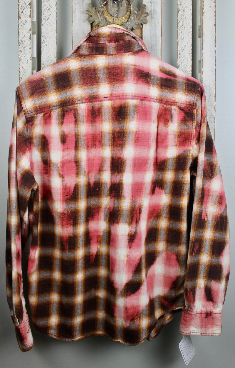 Vintage Brown and Pink Flannel Size Medium