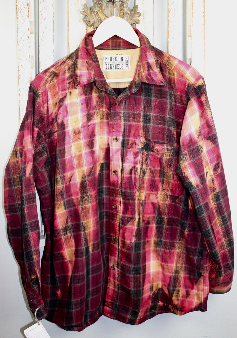 Vintage Burgundy, Crimson and Black Flannel Size Medium