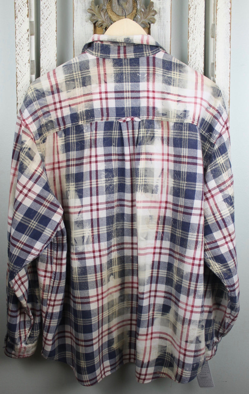 Vintage Blue, Red and White Flannel Size XL