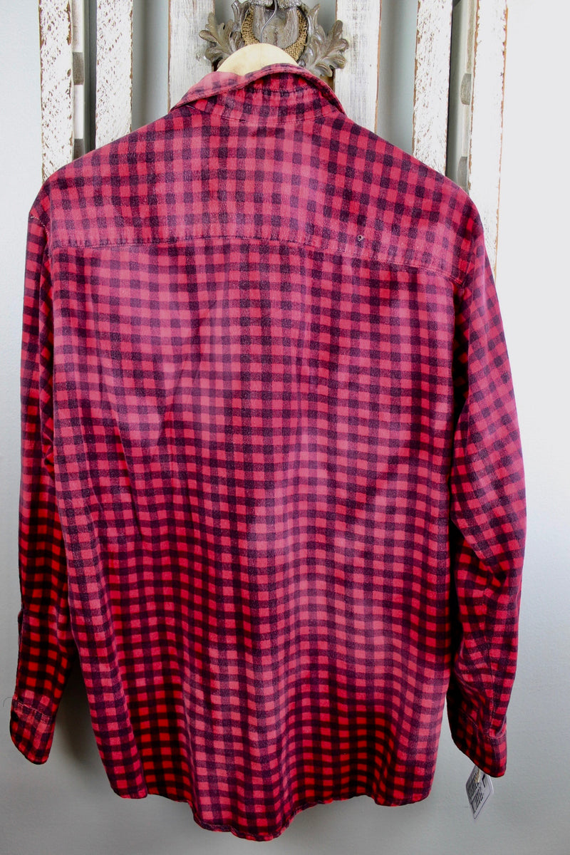 Grunge Red and Black Flannel Size Large