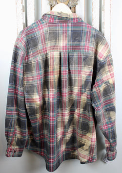 Vintage Faded Black, Red and Green Flannel Size XL