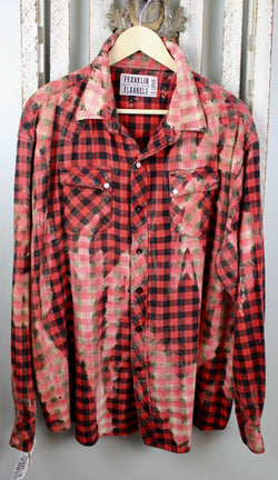 Vintage Western Style Red and Black Flannel Size XL