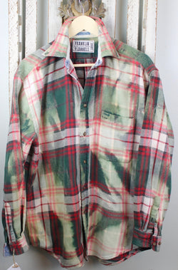 Vintage Green, Red and White Flannel Jacket Size Large