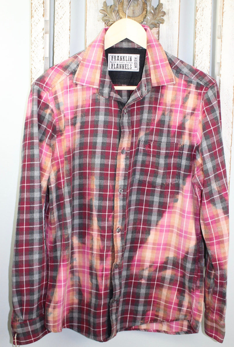 Vintage Grey, Pink and Burgundy Flannel Size Medium