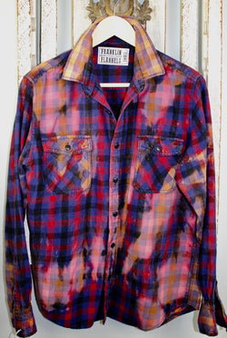 Vitnage Royal Blue, Black, Red, Purple and PInk Flannel Size Small