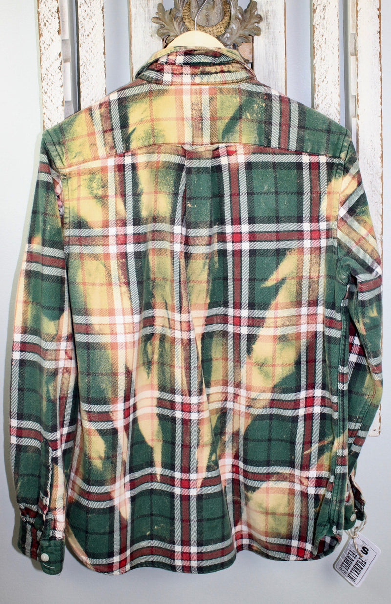 Vintage Green, Red and Yellow Flannel Size Small