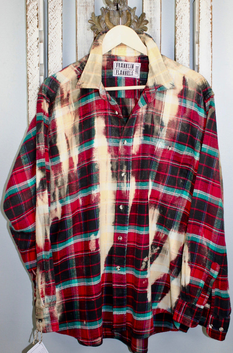 Vintage Red, Green and Black Flannel Size Large