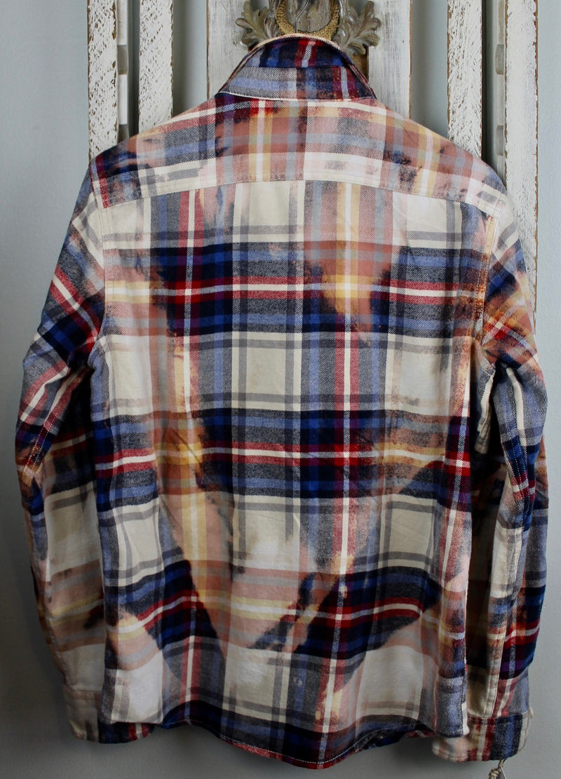 Vintage Navy, Red and White Flannel Size Small