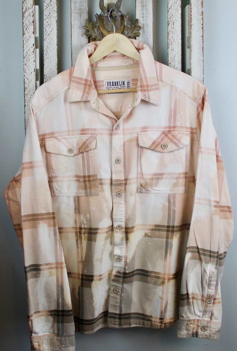 Vintage Peach, Beige and Cream Flannel Size Medium