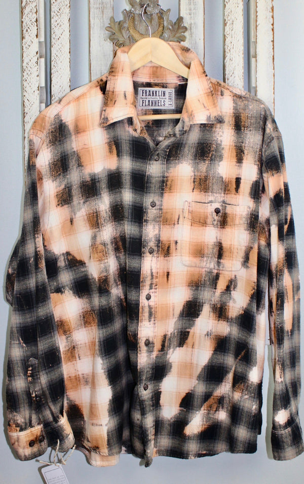 Vintage Black, Grey and Gold Flannel Size XL
