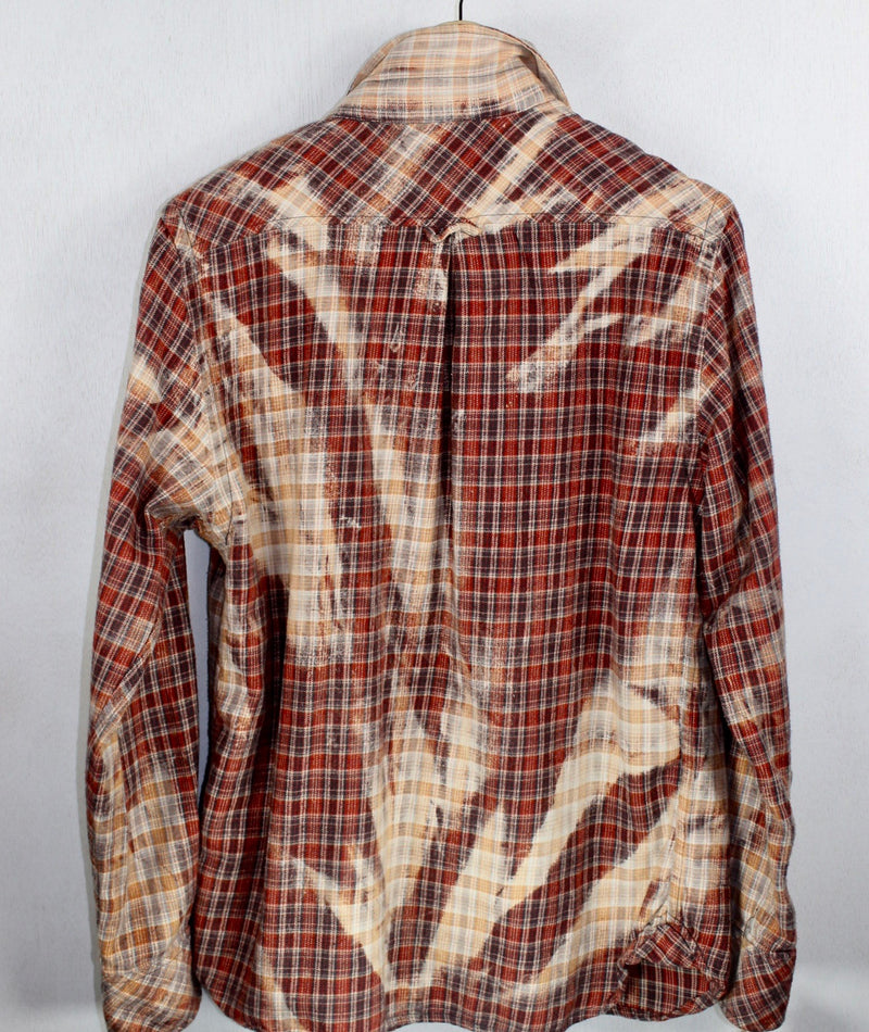 Vintage Red, Cream and Blue Flannel Size Medium