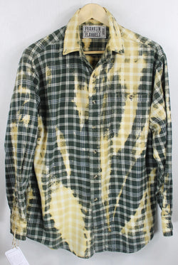 Vintage Dark Green and Maize Flannel Size Large