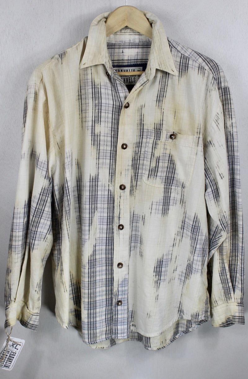 Vintage Pale Blue and Light Yellow Flannel Size XL