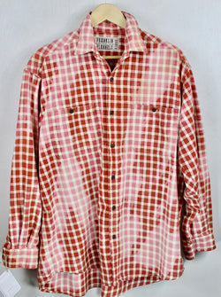 Vintage Red, Pink and White Flannel Size XL