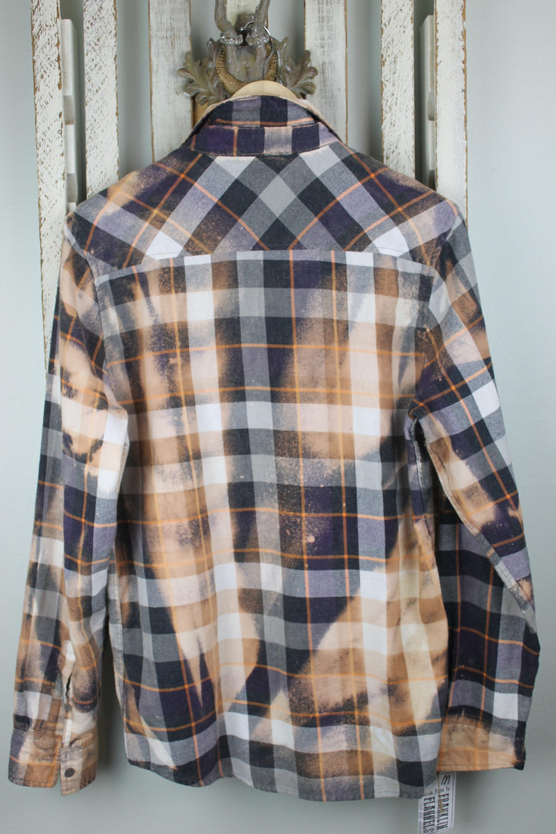 Vintage Peach, Grey, Gold and White Flannel Size Medium
