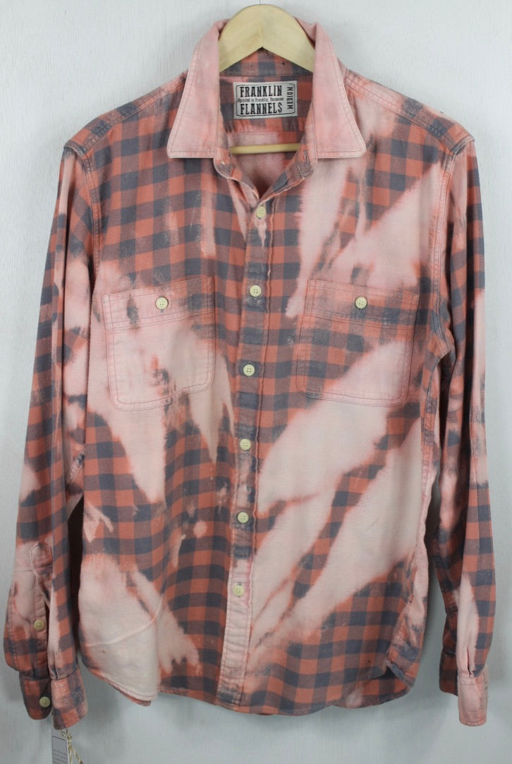 Vintage Pink and Grey Flannel Size Medium