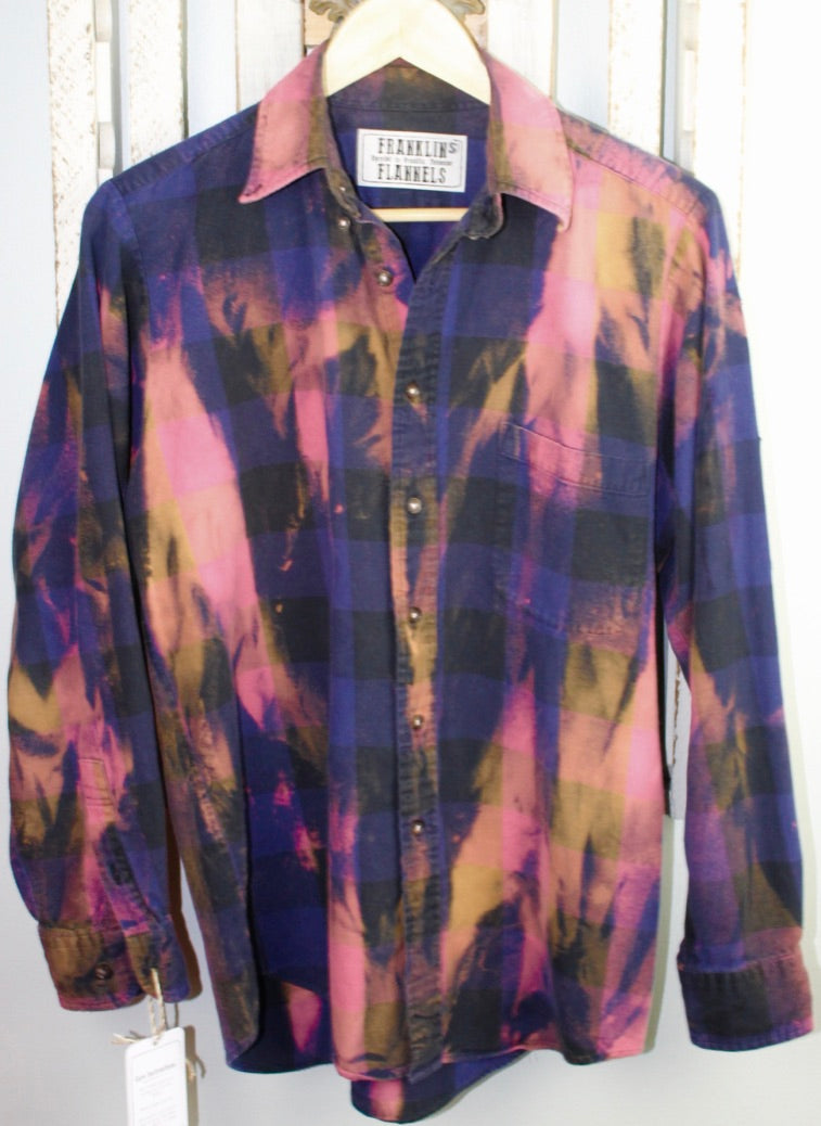 Vintage Purple, Black, and Pink Flannel Size Small