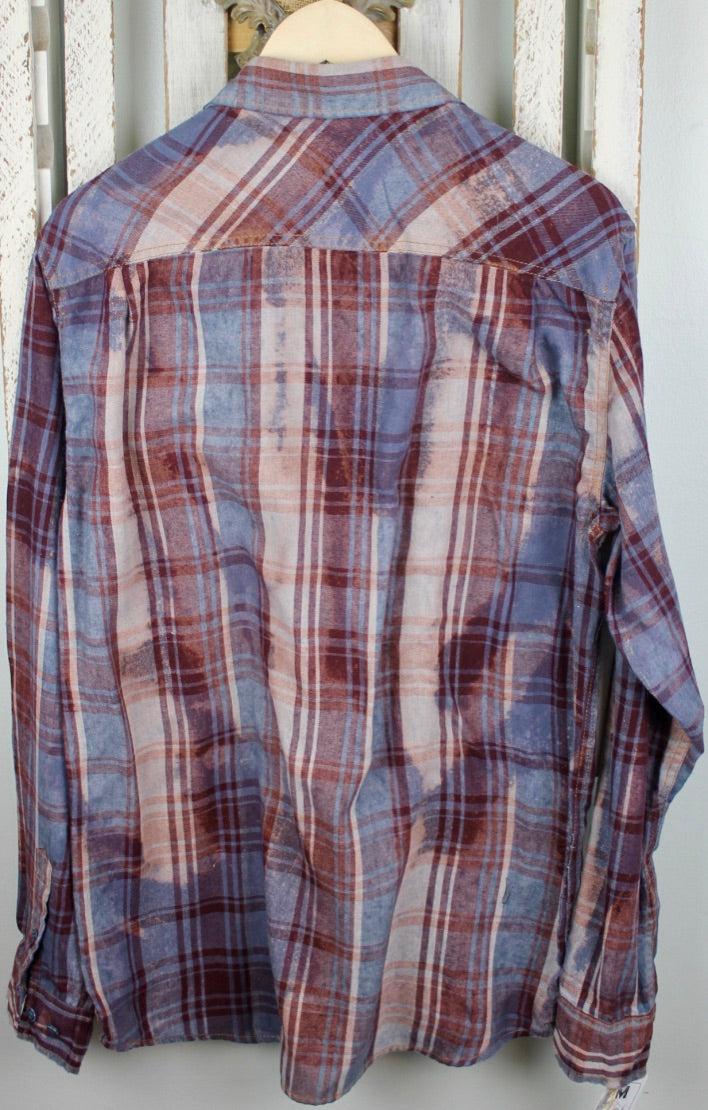Vintage Red, White, and Mauve Purple Flannel Size Medium