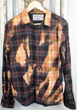 Vintage Burgundy, Gold, and Black Flannel Size Small