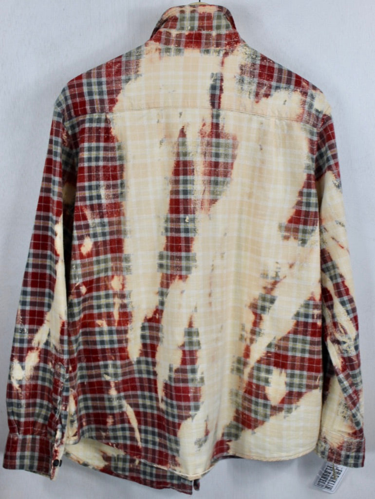 Vintage Red, Cream and Grey Flannel Size Large