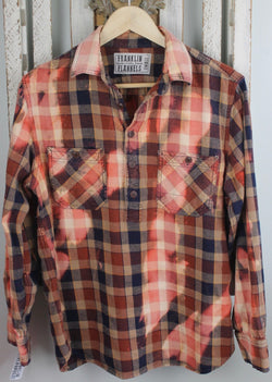 Vintage Navy, Burnt Orange, and Cream Flannel Size Small
