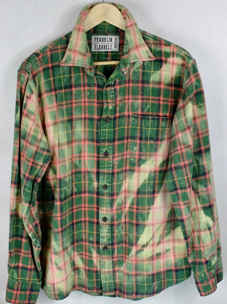 Vintage Green and Pink Flannel Size Medium