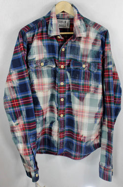 Vintage Blue, Red and Green Flannel Size Small