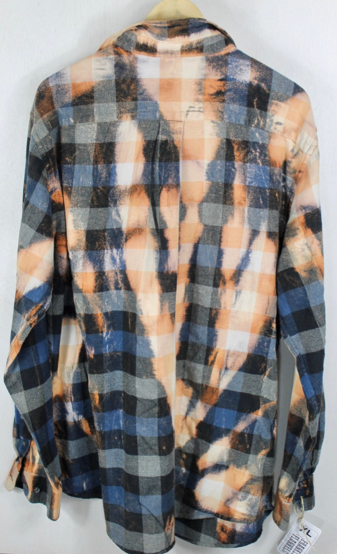 Vintage Black, Grey and Rust Flannel XL Tall