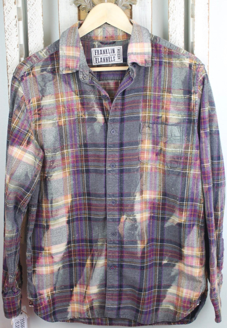 Vintage Grey, Pink, Purple, and Cream Flannel Size Medium