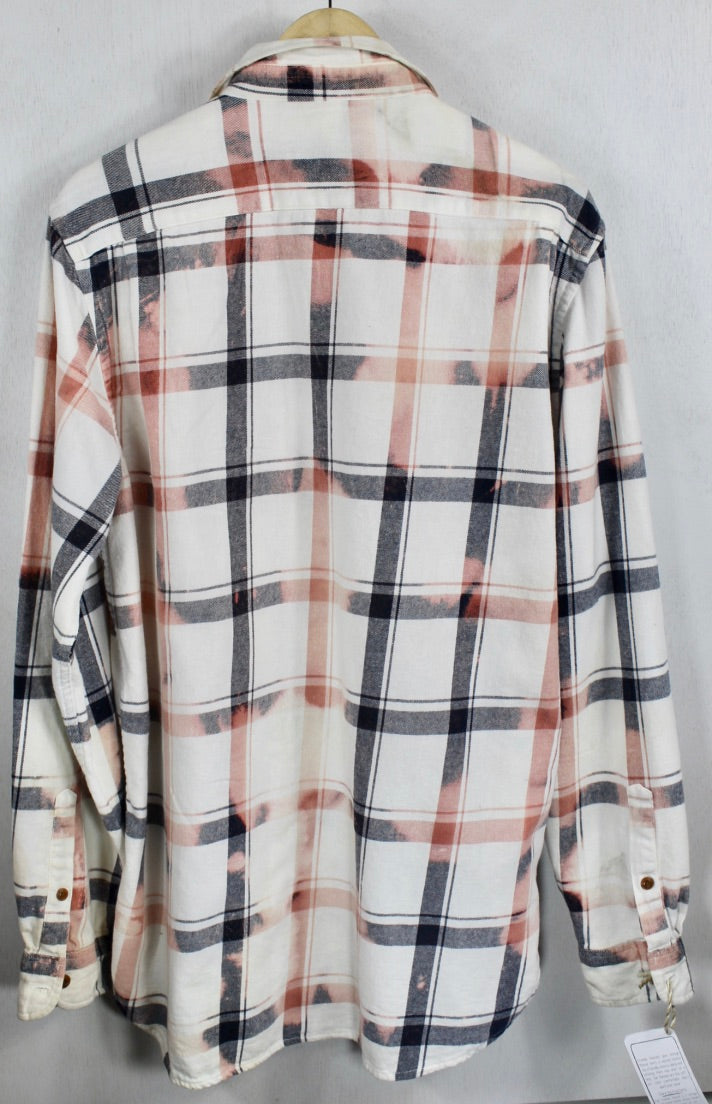Vintage Black, White and Pink Flannel Size Large