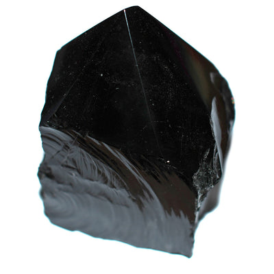 Obsidian Half Polished Point - Crystalline Creatures