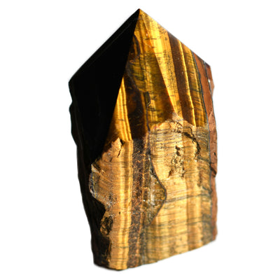 Tiger's Eye Half Polished Point - Crystalline Creatures