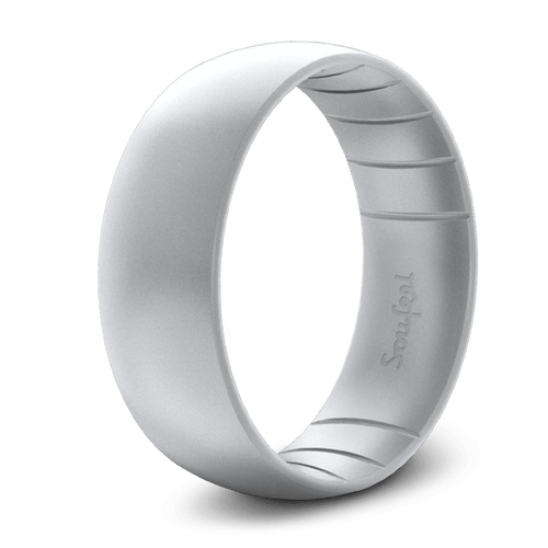 Men's Classic Elements Silver Grey Silicone Ring