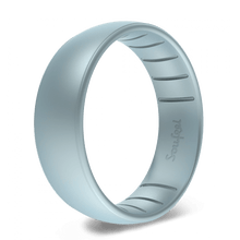 Men's Legends Blue Grey Silicone Wedding Ring