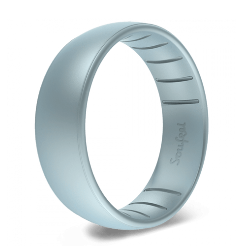 Men's Legends Blue Grey Silicone Ring