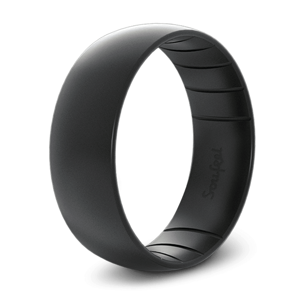 Men's Classic Elements Black Silicone Ring