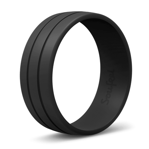 Men's Ultralite Black Silicone Wedding Ring