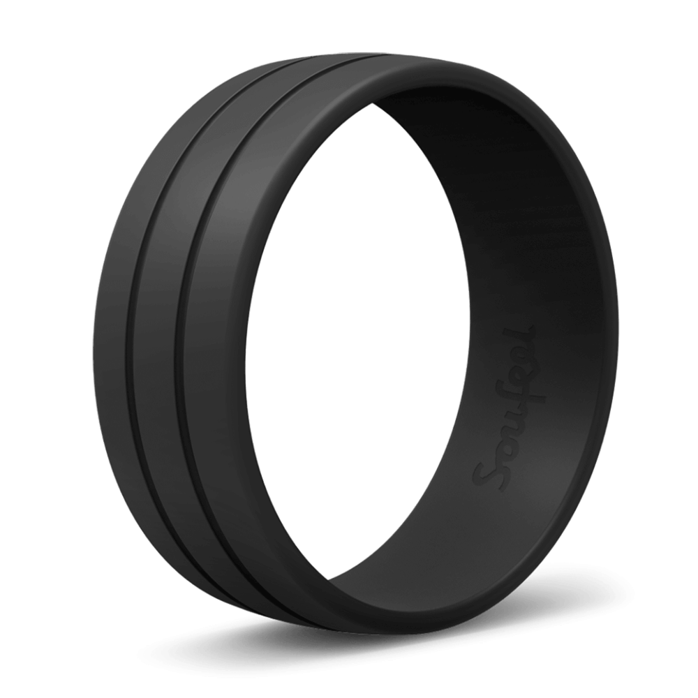Men's Ultralite Black Silicone Ring