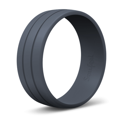 Men's Ultralite Dark Blue Silicone Ring