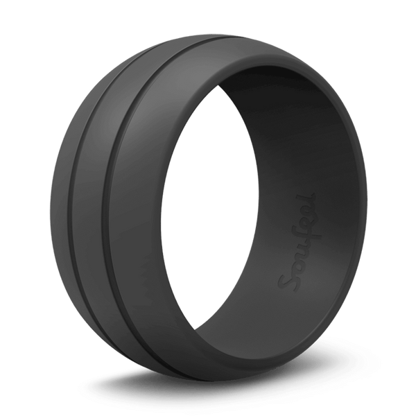 Women's Ultralite Black Silicone Wedding Ring
