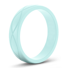 Women's Blue Infinity Silicone Ring - Hypoallergenic