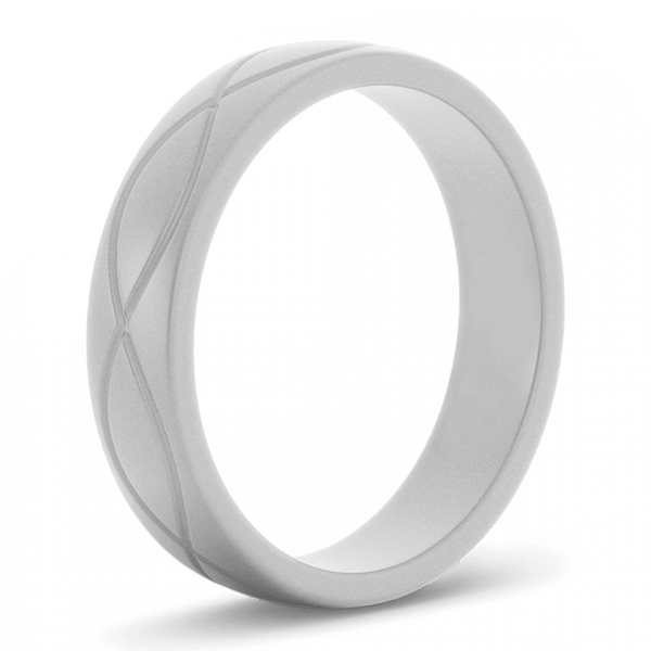 Women's Grey Infinity Silicone Ring - Hypoallergenic