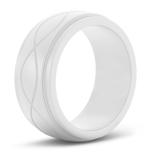 Men's Grey Infinity Silicone Ring - Hypoallergenic
