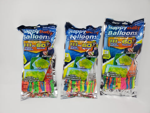 (444 balloons) Instant Easy Fill Self-Sealing Water Balloons Bunch Style