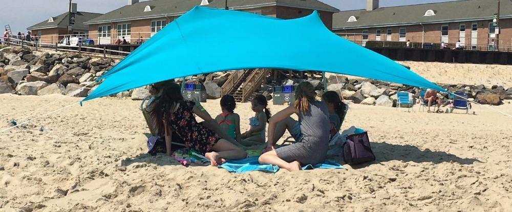 Beach SunShade Tent With Sandbag Anchors & Two Poles