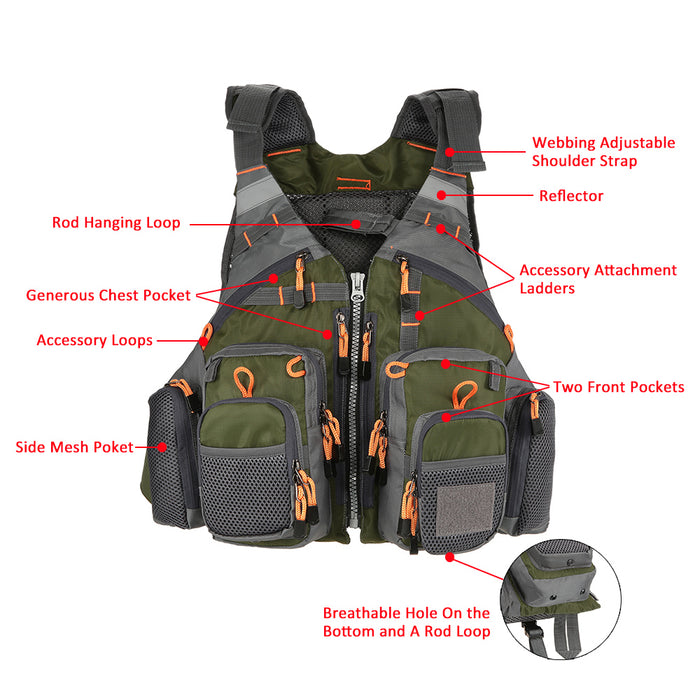 Outdoor Sport Fishing Life Vest